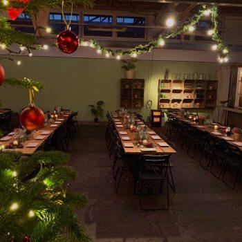 Event lokale med julepynt